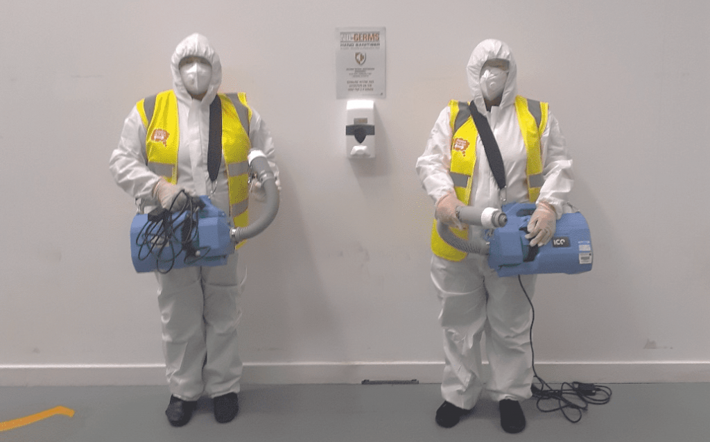 Two cleaners in PPE